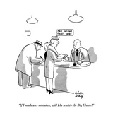 """""""If I made any mistakes, will I be sent to the Big House"""" - New Yorker Cartoon Giclee Print by Chon Day"""