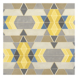 Blue and Yellow Geometry I Poster by Megan Meagher