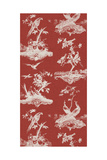 Toile in Crimson Giclee Print by Vision Studio