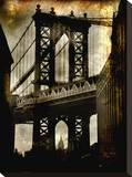 Manhattan Bridge Stretched Canvas Print by Dale MacMillan