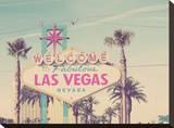 Welcome to Las Vegas Reproducción en lienzo de la lámina por Charlene Precious