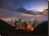 Hong Kong Morning Stretched Canvas Print by Dale MacMillan