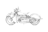 Motorcycle Sketch II Print by Megan Meagher