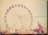 Take Me To The Carnival Leinwand von Charlene Precious