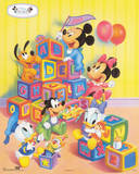Disney Babies: Alphabet Blocks Walt Disney Poster Print Photographie