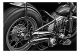 Vintage Motorcycle II Art by Ethan Harper