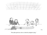 """This sudden spike shows where we think the earthquake is lying."" - New Yorker Cartoon Premium Giclee Print by Edward Steed"