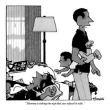 """Mommy is taking the nap that you refused to take."" - New Yorker Cartoon Premium Giclee Print by William Haefeli"