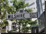 Wilshire Blvd Stretched Canvas Print by Dale MacMillan