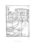 Sketches of Venice III Premium Giclee Print by Ethan Harper