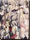 Marilyn Collage Stretched Canvas Print