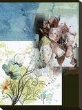 Floral Watercolour 2 Stretched Canvas Print by Yanni Theodorou