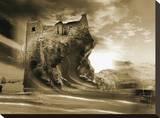 Castle Peak Stretched Canvas Print by Yanni Theodorou