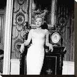 Marilyn in White Dress Stretched Canvas Print