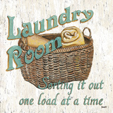 Laundry Room I Poster by Debbie DeWitt