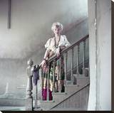 Marilyn on Stairs Płótno naciągnięte na blejtram - reprodukcja