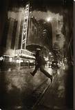 Radio City Umbrella Stretched Canvas Print by Dale MacMillan