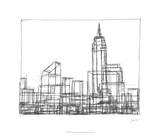 Wire Frame Cityscape I Premium Giclee Print by Ethan Harper