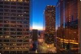 20th Floor Twilight Stretched Canvas Print by A.J. Messier