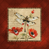 Dragonfly & Poppies Prints by Gregory Gorham
