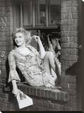 Marilyn, Window Sill Stretched Canvas Print
