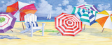 Umbrella Beach Print by Paul Brent
