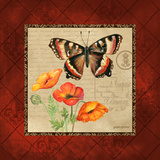 Butterfly & Poppies Posters by Gregory Gorham