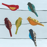 Birds on a Wire II Prints by Jeni Lee