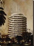 Capitol Records 2 Stretched Canvas Print by Dale MacMillan