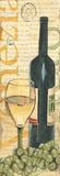 Wine & Grapes II Art par Debbie DeWitt