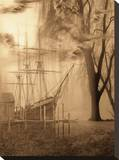 Ghost Ship Stretched Canvas Print by Yanni Theodorou