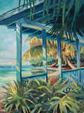 Pigeon Key Cottage Print by Kathleen Denis