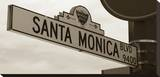 Santa Monica Blvd Stretched Canvas Print by Dale MacMillan