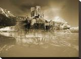 Ruined Isle Stretched Canvas Print by Yanni Theodorou