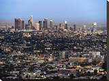 Los Angeles Skyline Stretched Canvas Print by Dale MacMillan