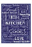 Kitchen Cooks Indigo Prints by Carole Stevens