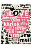 Love Lanquages Print by Carole Stevens