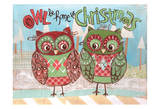 Christmas Owls 2 Prints by Erin Butson