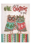 Chritmas Owls 1 Art by Erin Butson