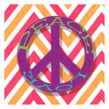 Chevron Peace Posters by Taylor Greene