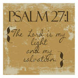 Psalms 27-1 Gold Art by Taylor Greene