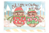 Christmas Owl 3 Prints by Erin Butson