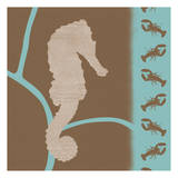 Sea Horse Pattern Prints by Lauren Gibbons