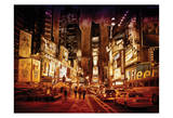 NY Times Square Painted Posters by Scott Cushing