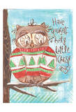 Christmas Owl 5 Prints by Erin Butson