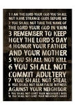 Full 10 Commandments Prints by Jace Grey