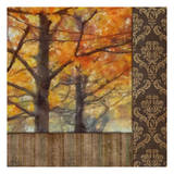 Amber Damask Tree II Print by Taylor Greene
