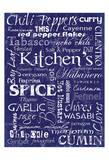 Kitchen Spice Indigo Posters by Carole Stevens