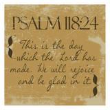 Psalms 118-24 Gold Poster af Taylor Greene