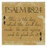 Psalms 118-24 Gold Poster by Taylor Greene